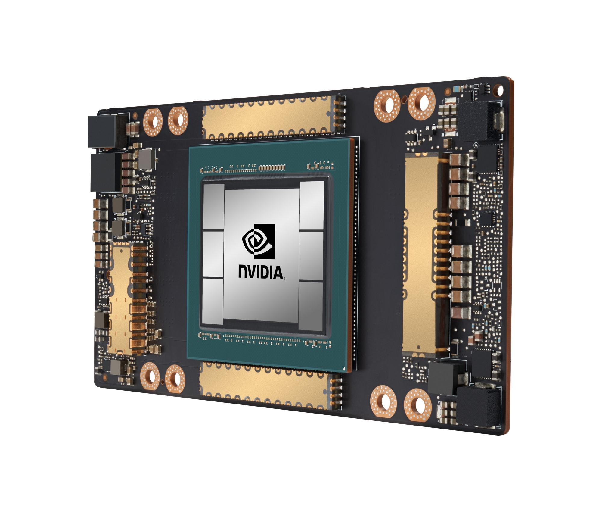 המעבד הגרפי A100 של NVIDIA. צילום יחצ