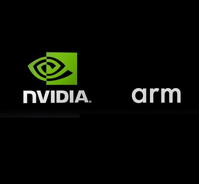 לוגו החברות NVIDIA ו-ARM. צילום יחצ