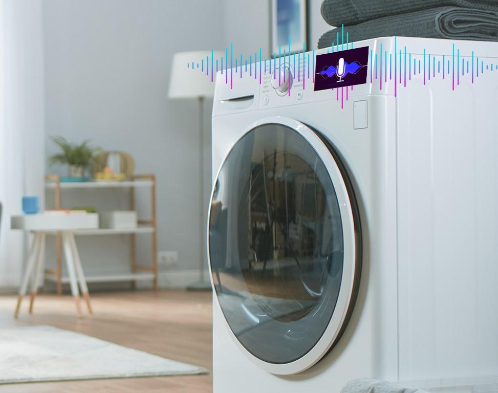 מכונת כביסה חכמה המבוססת על בקרים שמוטמע בהם מהדר לימוד מכונה Glow. צילום יחצ, NXP