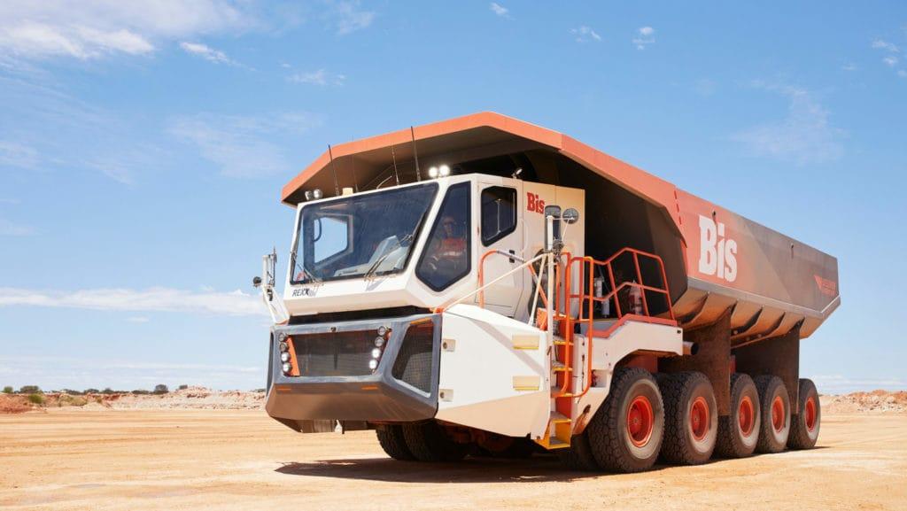 כלי רכב אוטונומי למכרות. צילום: BIS והתעשייה האווירית