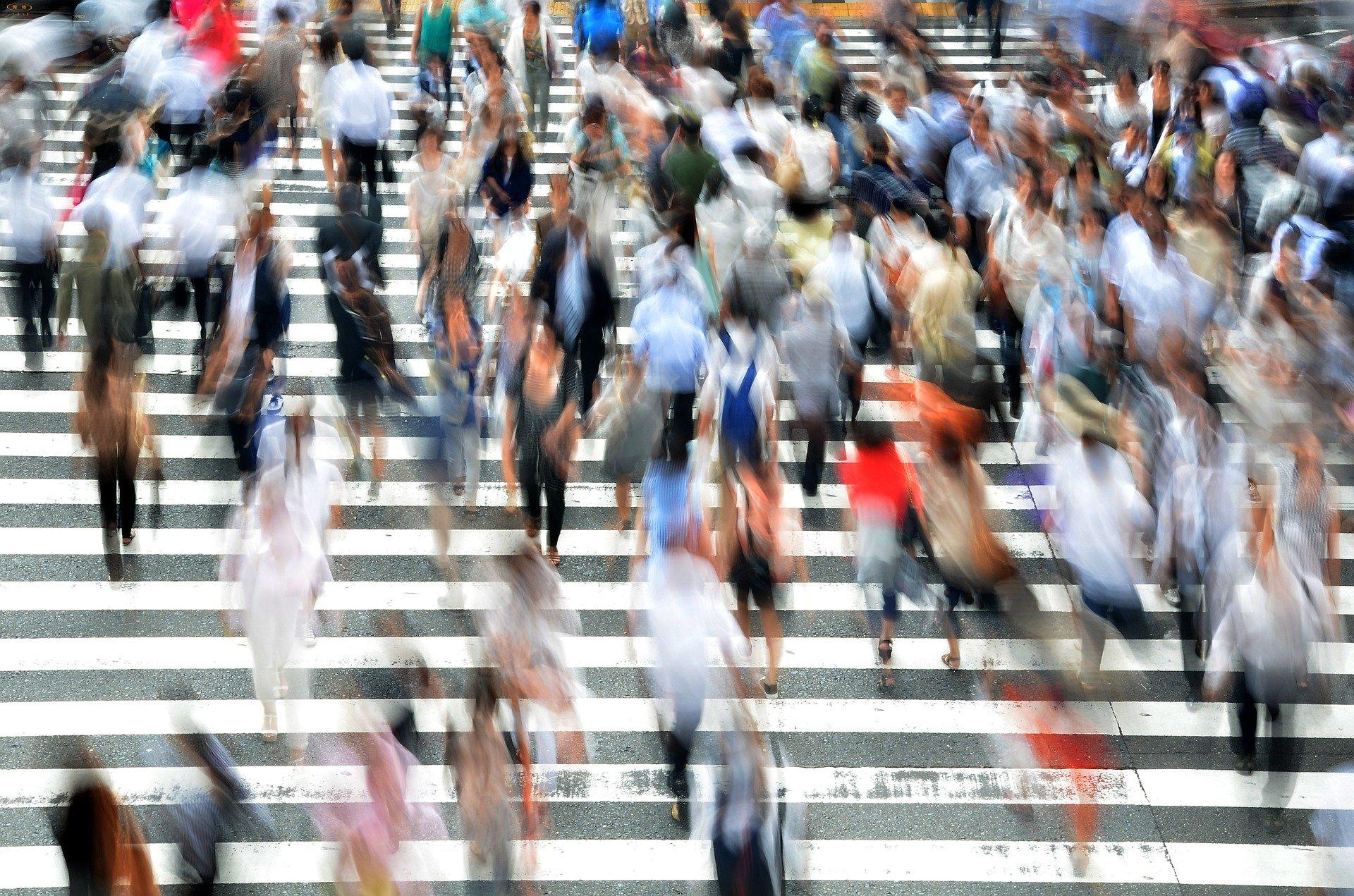 מעבר החציה המפורסם בטוקיו. צילום: Image by Brian Merrill from Pixabay