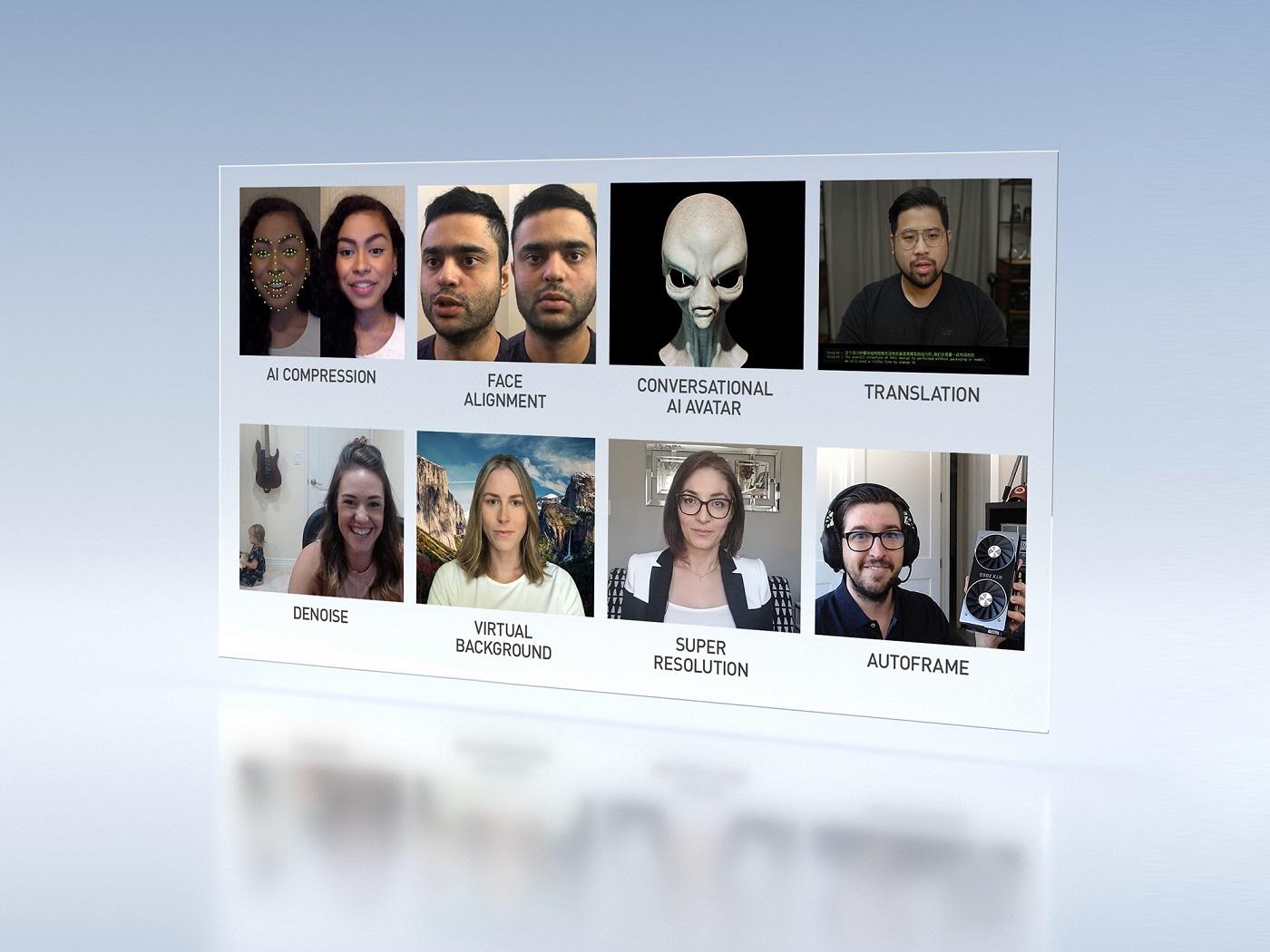 פלטפורמת הוידאו לבינה מלאכותית מקסין, אחד המוצרים שהכורזו בכנס ה-GTC, אוקטובר 2020. צילום יחצ, אנבידיה