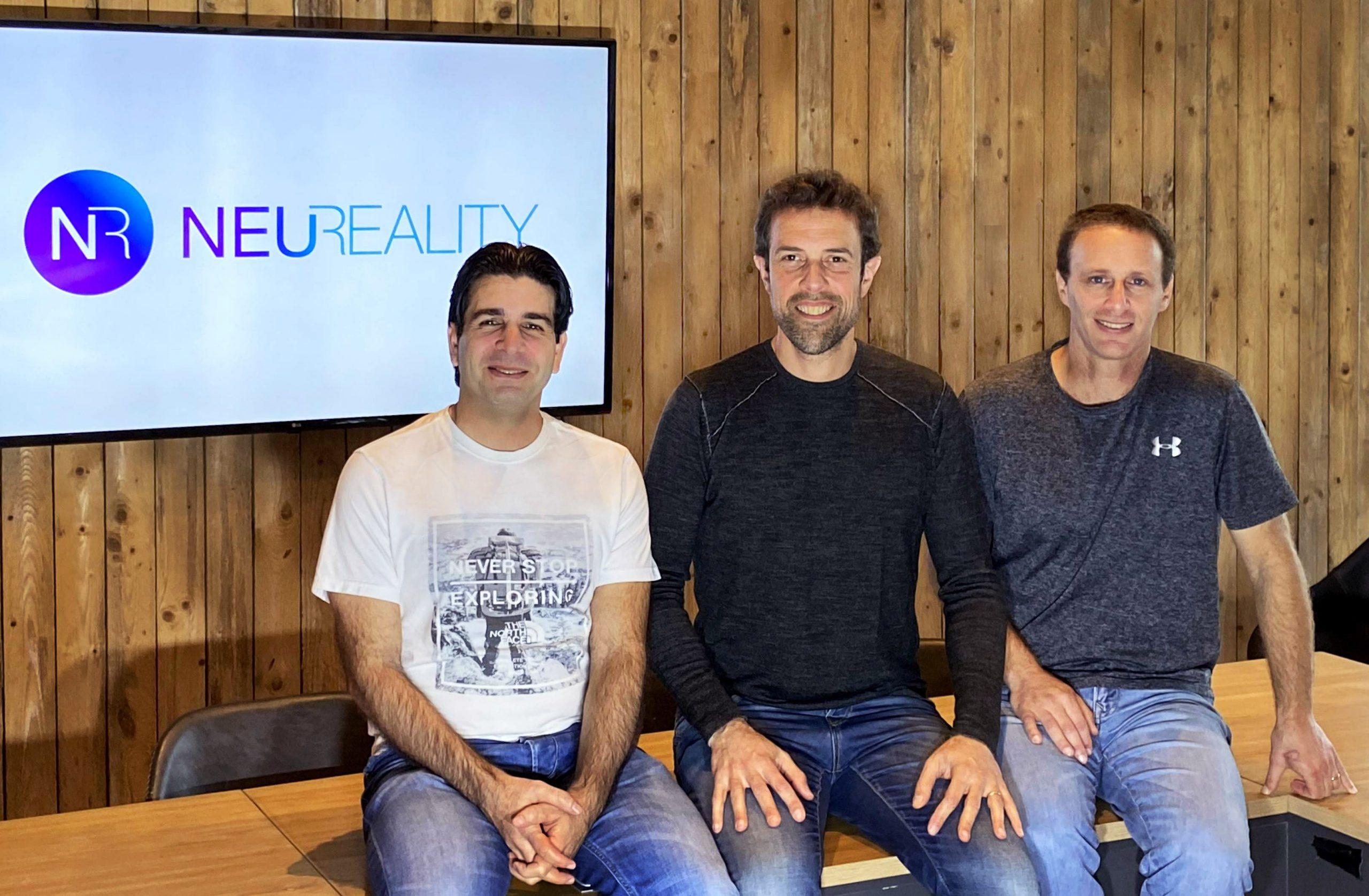 מייסדי Neureality. משמאל לימין יוסי קסוס, משה תנך וצביקה שמואלי. צילום יחצ