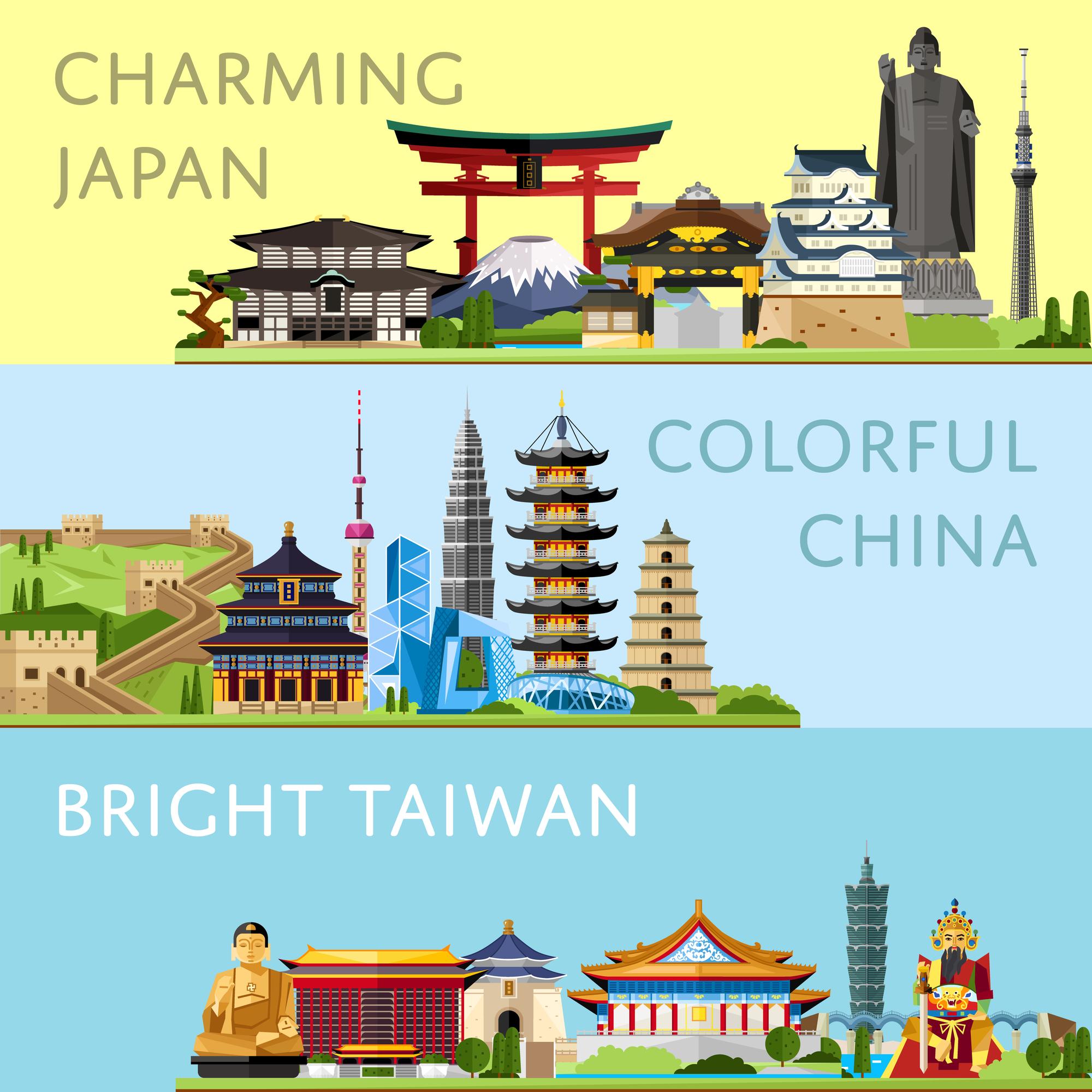כרזת טיולים למזרח אסיה בימים טובים יותר. אילוסטרציה: depositphotos.com