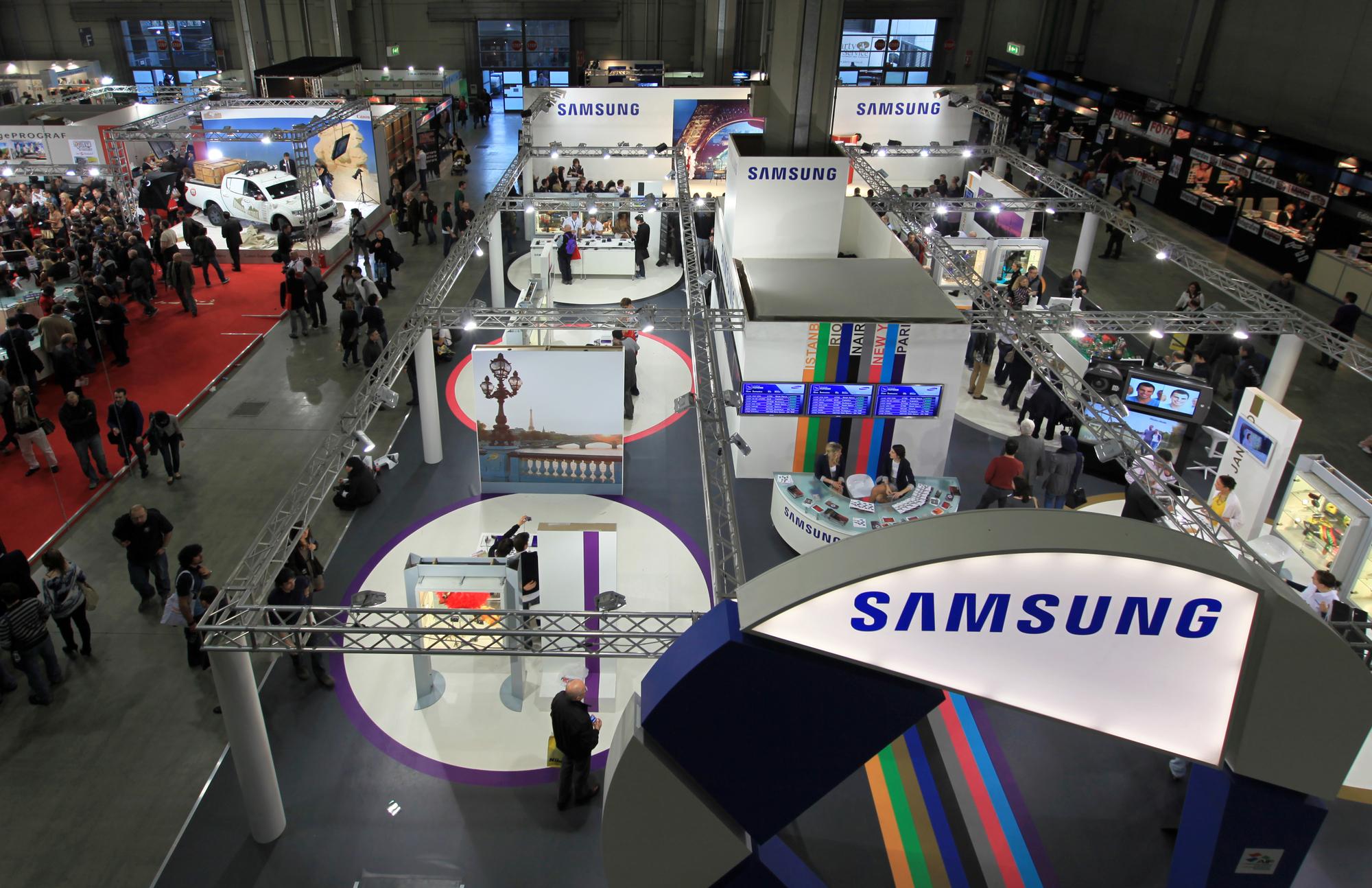 ביתן של סמסונג בתערוכה טכנולוגית. אילוסטרציה: depositphotos.com