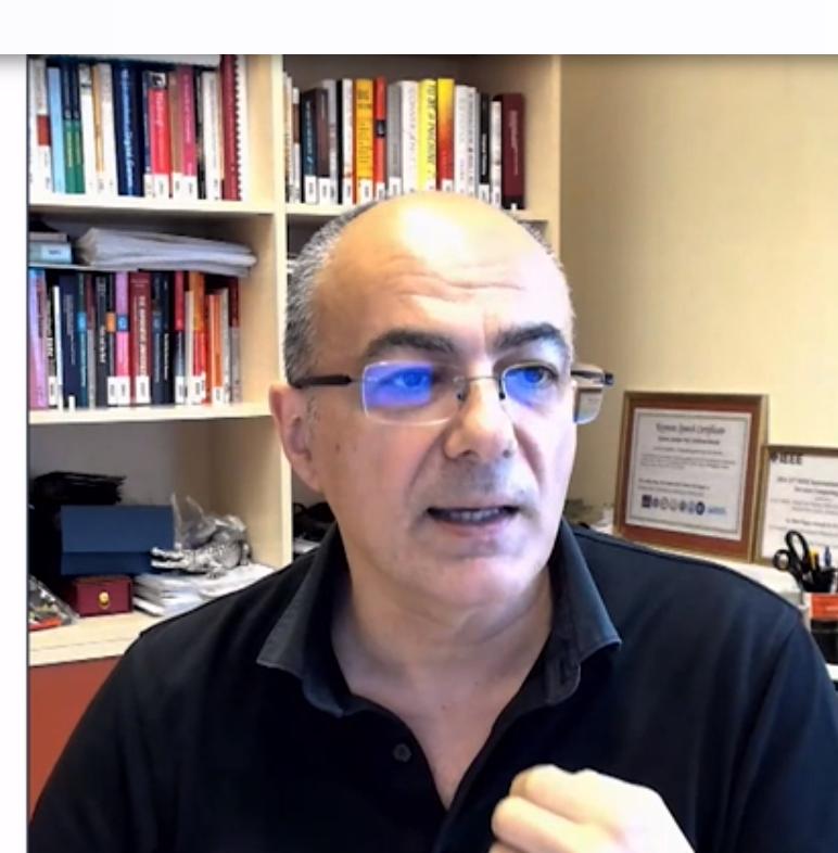 פרופ' שאהראם דוסטאר, מהאוניברסיטה הטכנולוגית של וינה. צילום מסך מתוך ChipEx2021