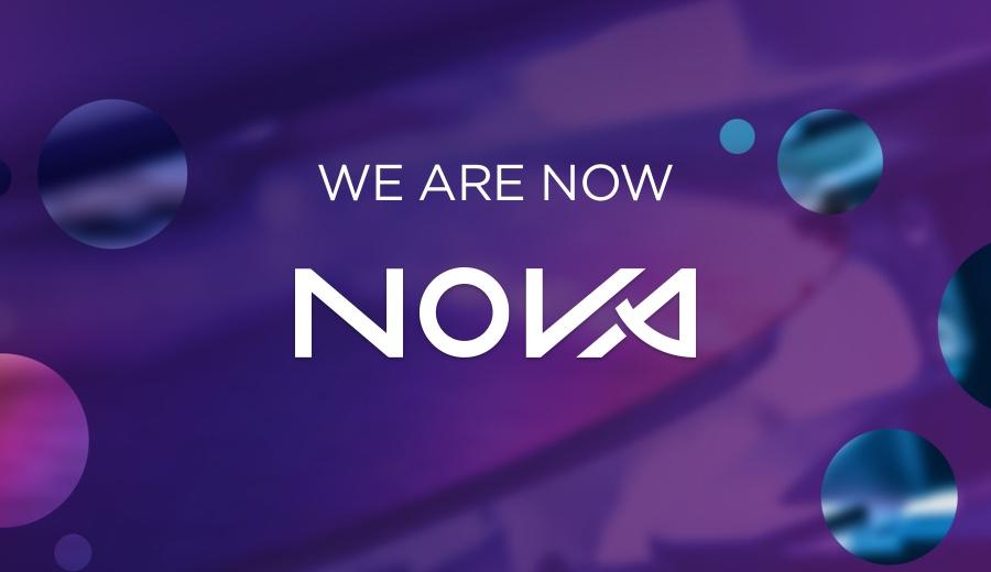 הלוגו החדש של נובה, 2021. צילום יחצ