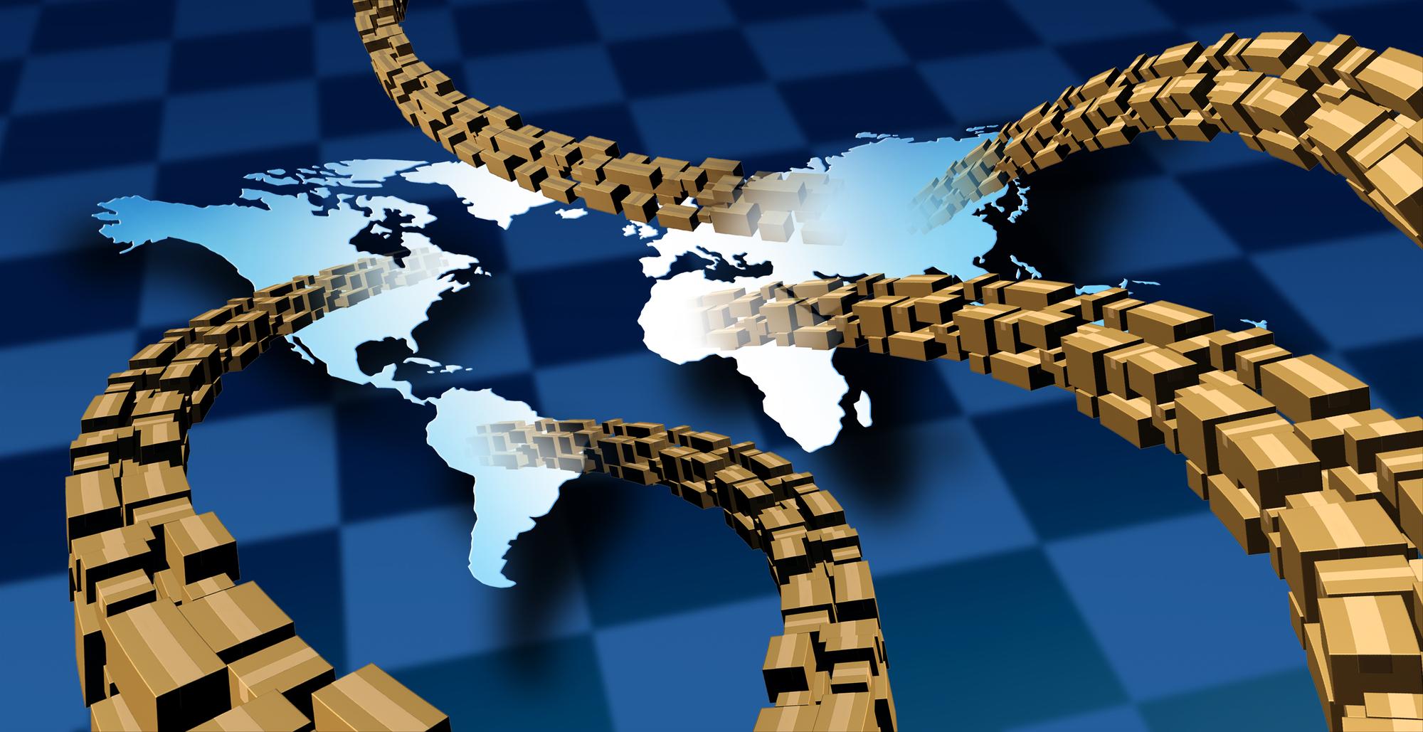 שרשרת האספקה הגלובלית. אילוסטרציה: depositphotos.com